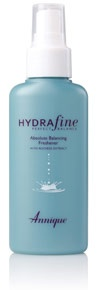 HydraFine for Normal and Combination Skin   Hydrafine Absolute Balancing Freshener has been formulated with a blend of herbal extracts, to help restore the pH balance of the skin. This non-irritating formula aids in the optimal absorption of your Annique moisturisers and treatment products, leaving your skin feeling absolutely balanced.