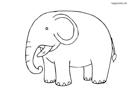 kleiner elefant ausmalbild in 2020 | malvorlagen tiere