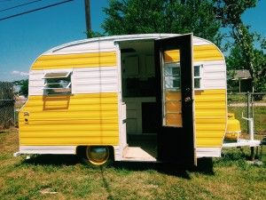 1968 Playmor Vintage Camper Remodel Photography Pinterest Vintage Yellow And Blue