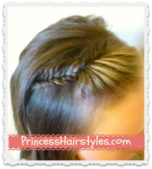 fishtail braid bangs, picture day hairstyle idea