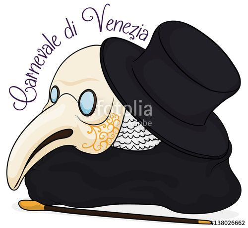 Traditional Elements for Plague Doctor Costume in Carnival of Venice