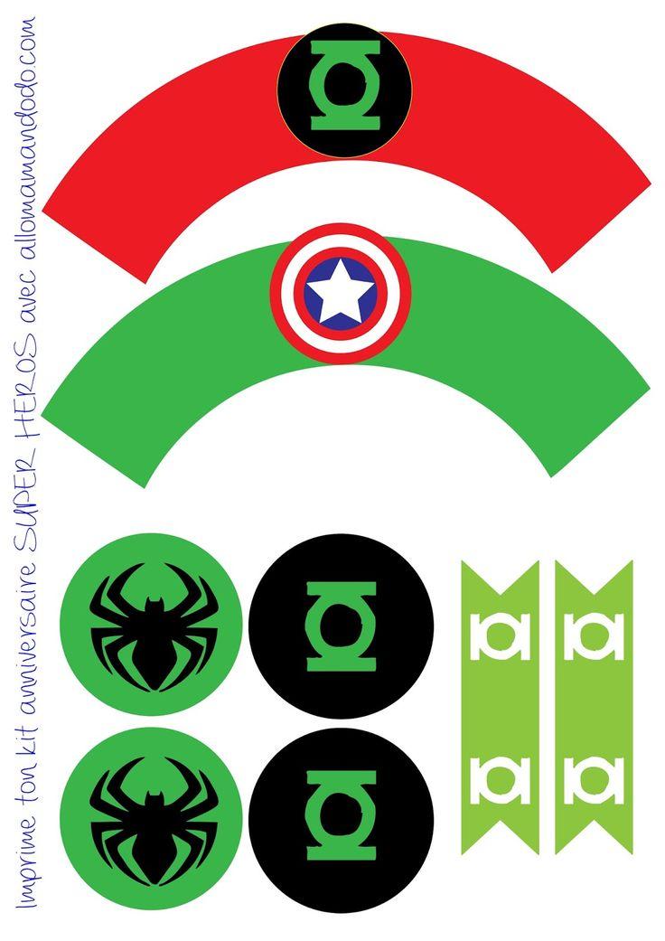 superheroes-party-free-printable-cupcake-wrappers3.jpg (1131×1600)
