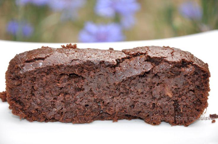 gâteau #chocolat courgette sans beurre ni farine