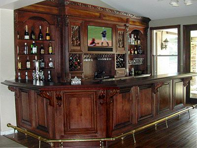Home Wooden Bars Grape Corbels Below Overhang Solid Raised Panels On Back Of Bar Bars