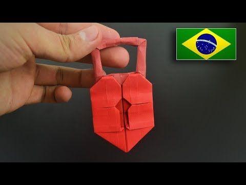 Origami: Cadeado de Coração - Instruções em Português BR - YouTube