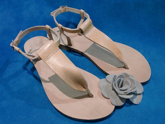 Genuine Leather Sandals - Handmade Women's Sandals.