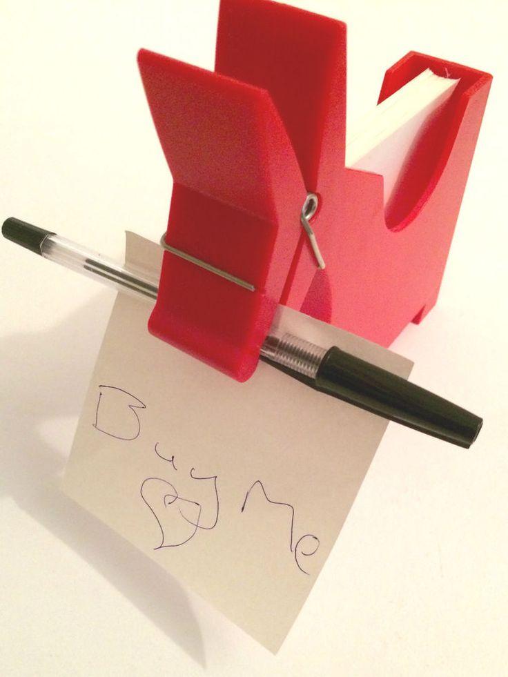 Morris Memo Desktop Pad Note Holder Red Donkey Novelty Note Stand