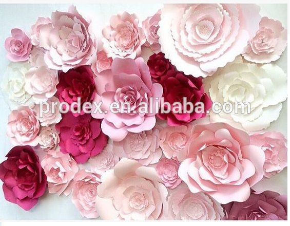 Source 2016 hot selling Giant paper flowers wall wedding flowers on m.alibaba.com