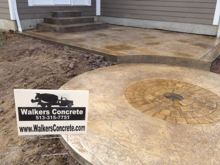 Stamped Concrete Patio Color Is Sandy Buff And Nutmeg Think I M Going With Sandstone One Shade Over F Stamped Concrete Patio Colorful Patio Concrete Patio