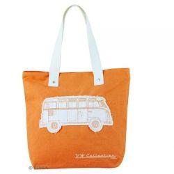 VW T1 Bus canvas shoulder bag orange