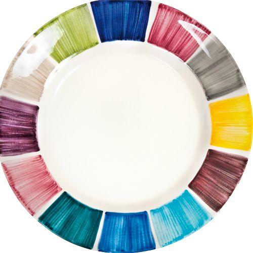 Comer en el cielo - Plato de ceramica Rainbow, disponible en formato de 21 a 41 cm de diametro. De Mateus.