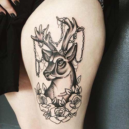 Tattoo Woman Deer: Pinterest'teki 25'den Fazla En Iyi Bacak Dövmeleri Fikri