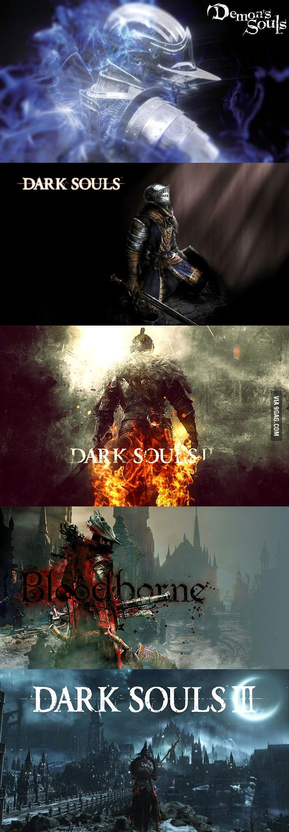 So, SoulsBorne fans; which is your favourite game from From Software? Bloodborne would be mine. - 9GAG