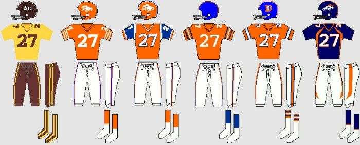 Denver Broncos uniform evolution