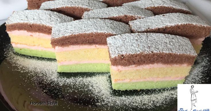 Mennyei Árvácska szelet recept! Nagyon mutatós és finom sütemény! Készítsétek el Ti is, biztos lenyűgözitek vele a vendégeket! :-)