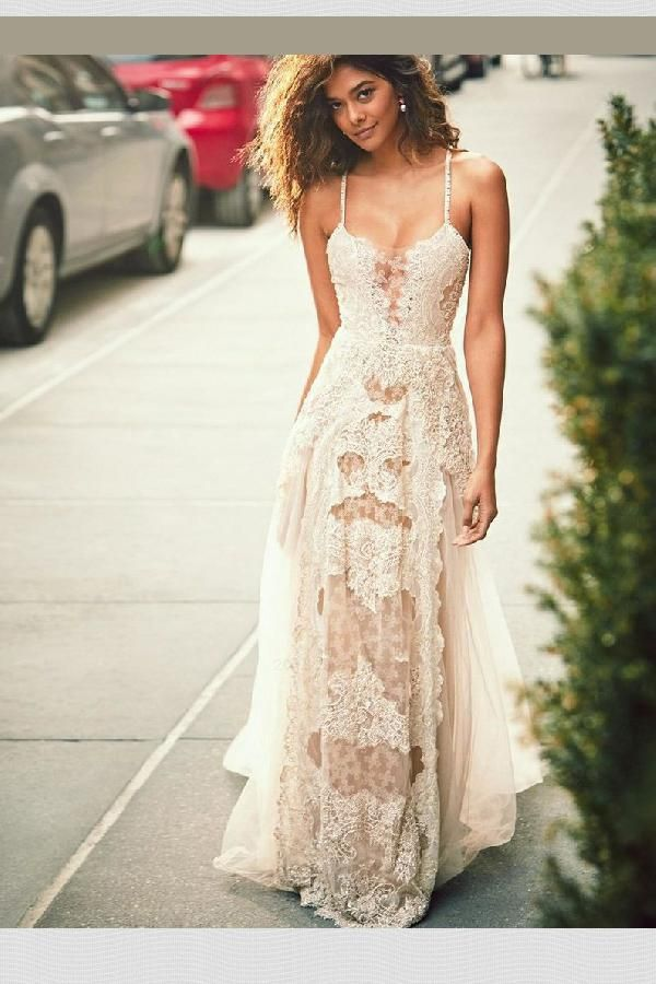 Outlet Absorbing Appliques Wedding Dress, Lace Wedding Dress, Wedding Dress A-Line