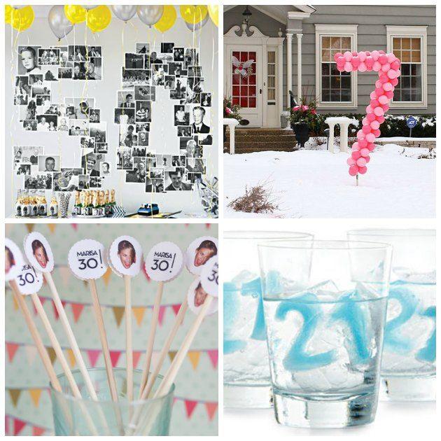 pynt og festlige indslag til fødselsdage