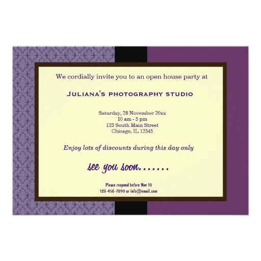 21 best open house invitation wording images on pinterest house open house new business personalized announcements stopboris Image collections