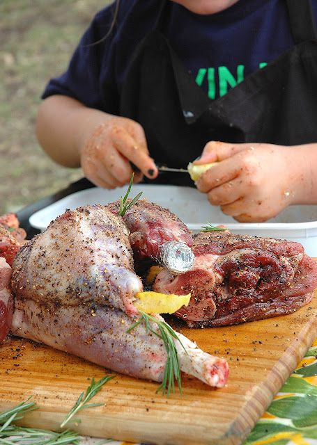 Win a Potjiekos Competition with Lamb Shanks and a chef in the making....... | My Easy Cooking