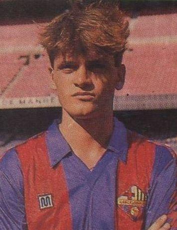 Anys 80, un jove Tito Vilanova al Barça Atlètic (Barça B)