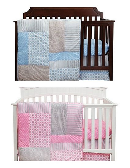 Matching Twin Crib Set In Pink And Blue 199 99