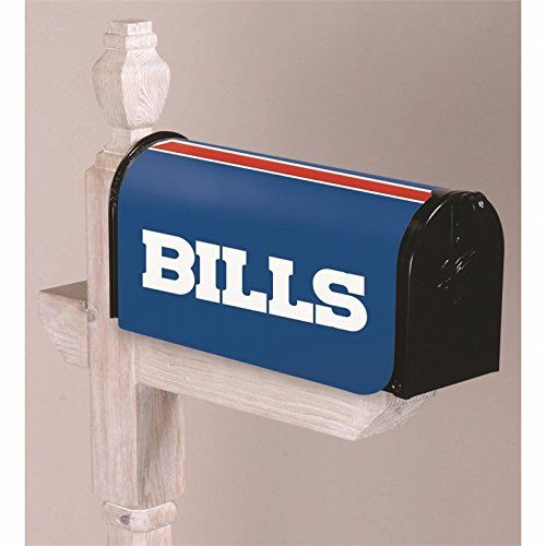 NFL Buffalo Bills 2MBC3803Buffalo Bills, Mailbox Cover, Blue  https://allstarsportsfan.com/product/nfl-buffalo-bills-2mbc3803buffalo-bills-mailbox-cover-blue/  High heel shaped wine stopper Buffalo Bills themed with rhinestone embellishments This product is manufactured in China