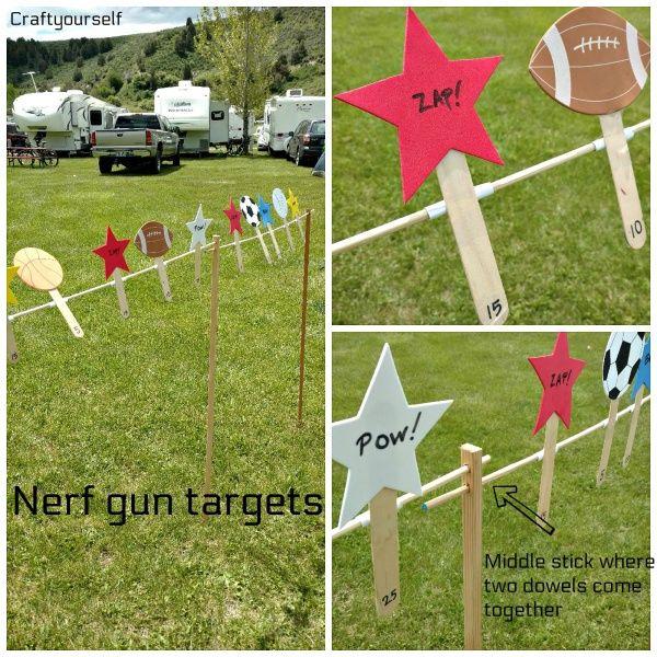 How to Make Fun Nerf Gun Targets for Shooting! - Craft