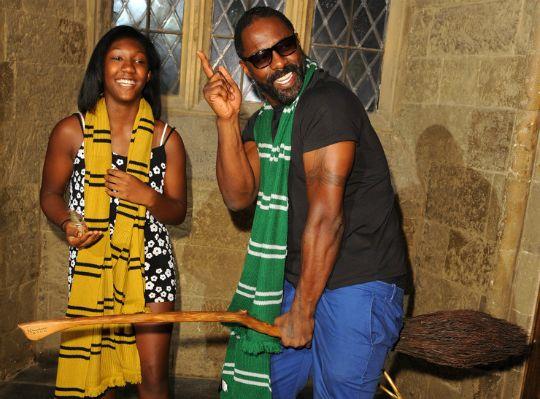 IDRIS ELBA AND DAUGHTER ATTEND 'HARRY POTTER' SCREENING IN UK - Black Celebrity Kids