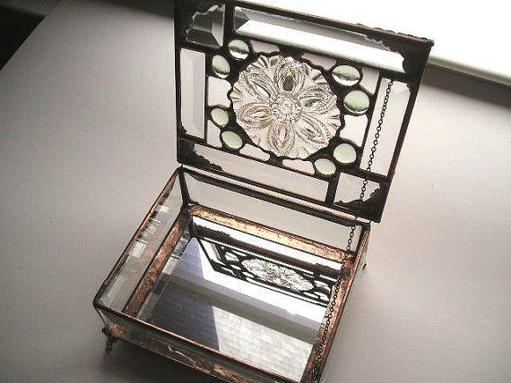 Caja de joyería de vidrio biselado Glass por CreativeSpiritGlass