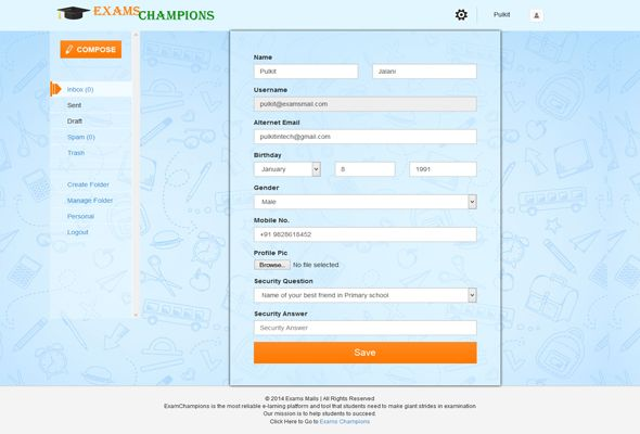 Exams Mail is #php based #mail server. Developed in #bootstrap so its also have responsive feature.