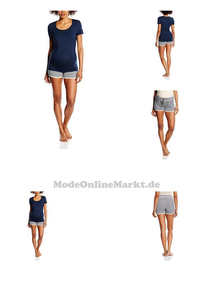 5713024717827 | #MAMALICIOUS #Damen #Umstands #Schlafanzug #Newthilde #S/S #Short #Pyjamas #NF, #Mehrfarbig #(Black #Iris), #36 #(Herstellergröße: #S)