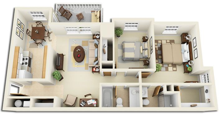 54 best images about home designs layouts on pinterest for Studio apartment design 3d