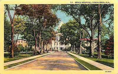 Tuscaloosa Alabama AL 1932 Bryce Hospital Antique Vintage Linen Postcard