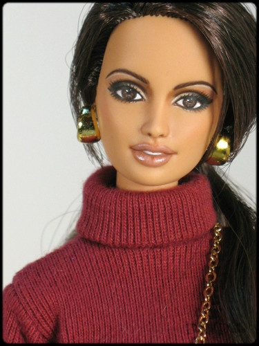 """This Italian It Girl Is Your New Style Muse: OOAK Model Muse Barbie Repaint """"Eliza"""" DOTW Italy DNJ"""