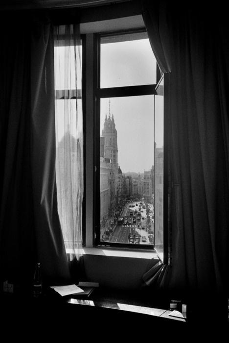 la gran view from hotel window in Madrid