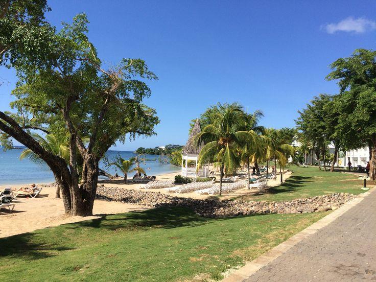 Het strand van Clubhotel Riu Negril