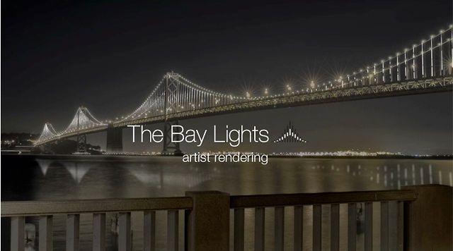 The Bay Lights by Words Pictures Ideas. The Bay Lights is an iconic light sculpture designed by internationally renowned artist Leo Villareal. The sculpture will be installed and illuminated over the course of the Bay Bridge's 75th Anniversary, which extends from late 2011 to 2012.