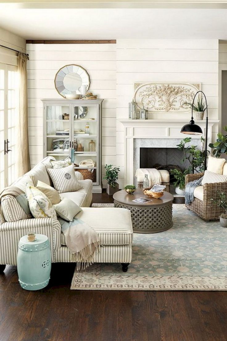 25 Incredible Living Room Design With Farmhouse Style