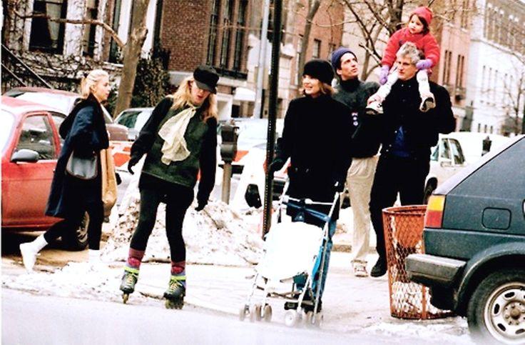 1994: Jacqueline Kennedy Onassis walking in Manhattan with Caroline, John Jr., Edwin Schlossberg, and granddaughter Rose ❤❁❤❁❤❁❤❁❤❁❤http://en.wikipedia.org/wiki/Caroline_Kennedy http://en.wikipedia.org/wiki/Jacqueline_Kennedy_Onassis http://en.wikipedia.org/wiki/John_F._Kennedy,_Jr.