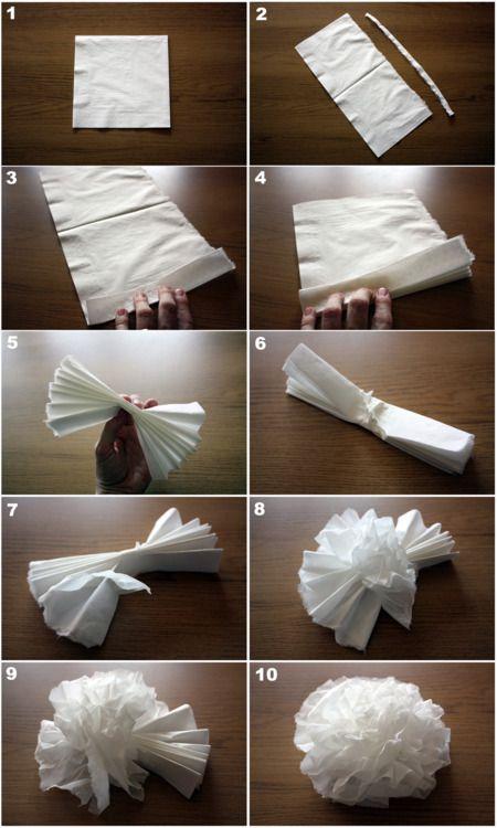 DIY Paper Napkin Flowers (basic)
