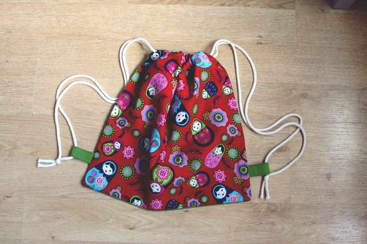www.facebook.com/jeromins.factory #handmade #backpacks #homemade #rękodzieło #DIY #krawiectwo #sewing #plecak #worek #eko #ecobag #summer #beach #matrioshka #matrioszki  #red
