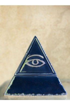 *Eye Pyramid Ceramic Box*