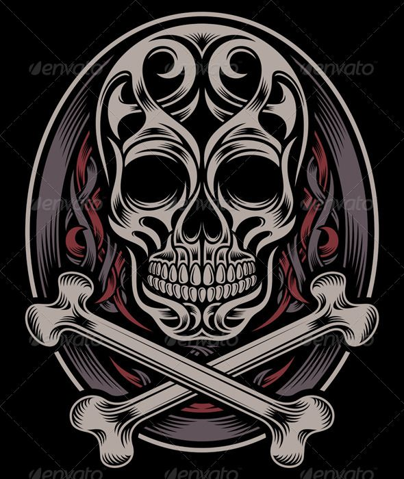 Hardcast vectors koi carp vector illustration of an owl for Skull and crossbones tattoo