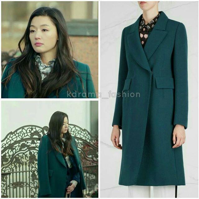 Jeon Ji Hyun wore LANVIN Dark Teal Wool Felt Coat £2,355 in The Legend of The Blue Sea Drama Episode 10. Photo credit to rightful owner.  #jeonjihyun #giannajun #전지현 #패션 #스타패션 #패션스타그램 #드라마패션 #푸른바다의전설 #코트 #랑방 #coat #lanvin #thelegendofthebluesea #simchung #jeonjihyunstyle #kstyle #kfashion #kdramastyle #fashion #kdrama_fashion #style #셀럽패션 #스타일 #인스타그램 #dailylook #ootd #coatoftheday
