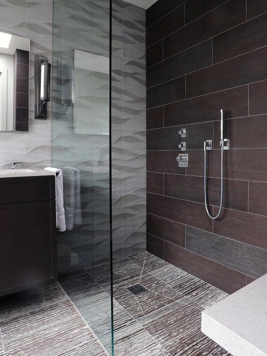 84 best images about contemporary and modern bathrooms on for Bathroom 12x24 tile