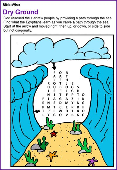 God Guides the People Through the Red Sea (Moses Puzzle)- Kids Korner - BibleWise