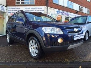 used Chevrolet Captiva LTX VCDI for sale at Master Car sales Hitchin Hertfordshire with no deposit car finance options available