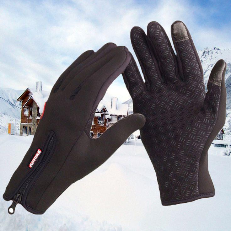 Top Verkauf Winter Outdoor Ski Sport Männer Frauen Reiten Full Finger Touch rutschfeste Wasserdichte Winddichte Fleece Warm Cold handschuhe