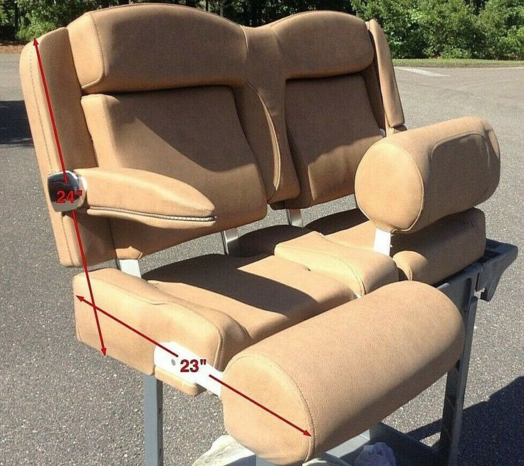 Sea Hunt BROWN Dual Captains Chairs Helm Seat for GameFish