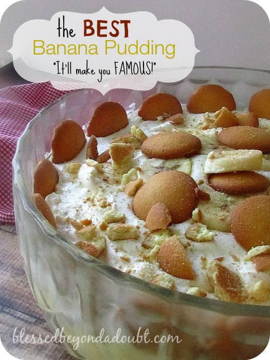 You have to make this EASY vanilla wafer banana pudding recipe! Oh my! It made me famous!